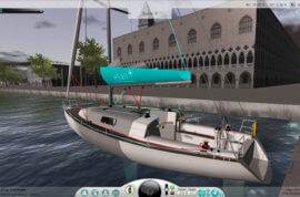 eSail Sailing Sim exploring Little Venice