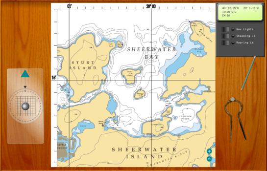 Sailing Simulator Chart