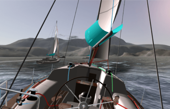 eSail Sailing Simulator race