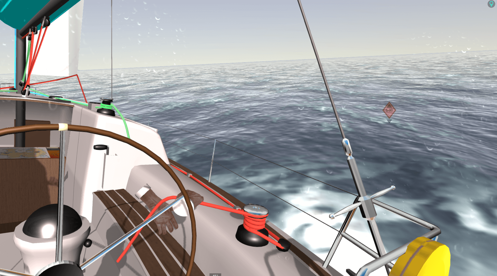 eSail Sailing Simulator Backstay Tensioner