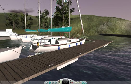 eSail the sailing simulator mooring