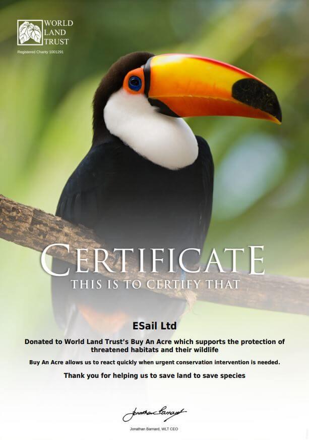 eSail World Land Trust Certificate