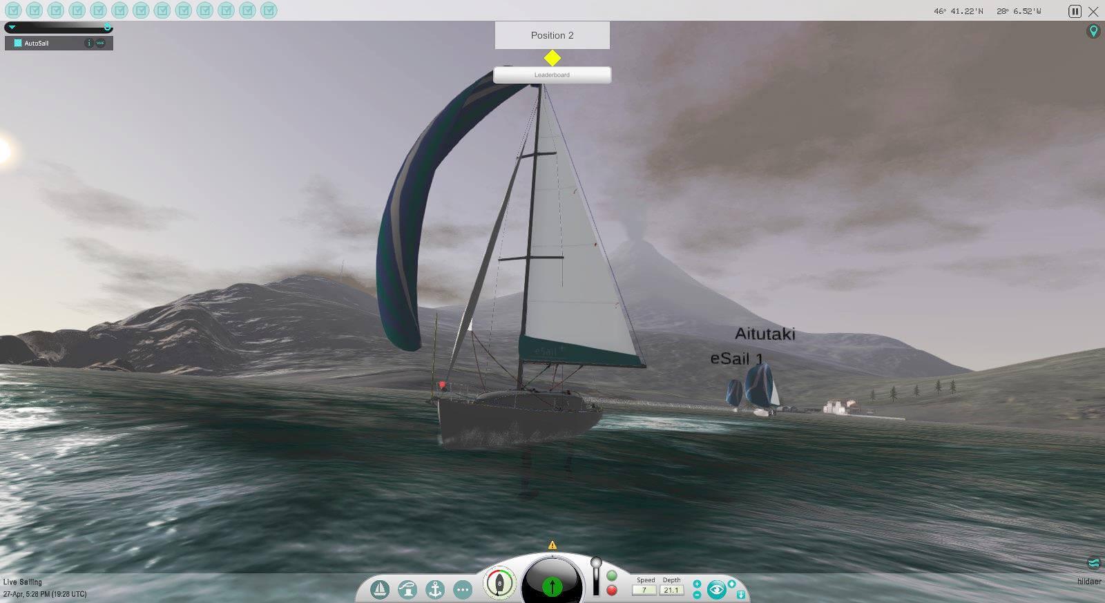 eSail the sailing simulator - virtual racing